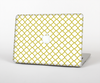 The Yellow & White Seamless Morocan Pattern V2 Skin Set for the Apple MacBook Pro 15""