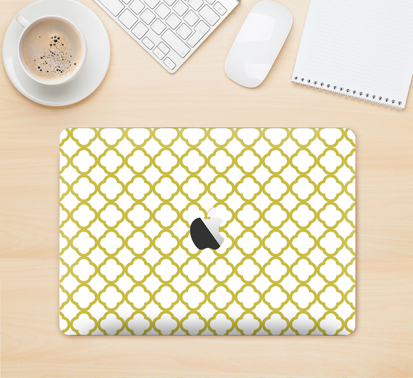 "The Yellow & White Seamless Morocan Pattern V2 Skin Kit for the 12"" Apple MacBook"