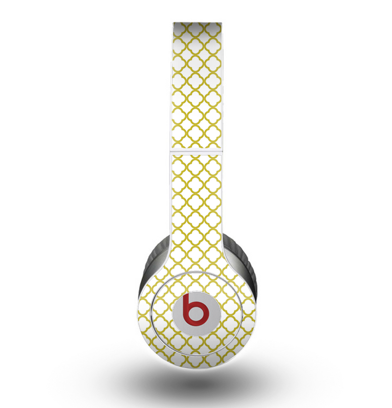 The Yellow & White Seamless Morocan Pattern V2 copy Skin for the Beats by Dre Original Solo-Solo HD Headphones