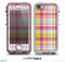 The Yellow & Pink Plaid Skin for the iPhone 5-5s NUUD LifeProof Case for the LifeProof Skin