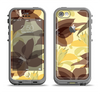 The Yellow and Brown Pastel Flowers Apple iPhone 5c LifeProof Fre Case Skin Set