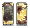 The Yellow and Brown Pastel Flowers Apple iPhone 5c LifeProof Nuud Case Skin Set