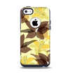 The Yellow and Brown Pastel Flowers Apple iPhone 5c Otterbox Commuter Case Skin Set