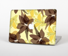The Yellow and Brown Pastel Flowers Skin Set for the Apple MacBook Pro 15""