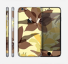 The Yellow and Brown Pastel Flowers Skin for the Apple iPhone 6