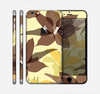 The Yellow and Brown Pastel Flowers Skin for the Apple iPhone 6 Plus