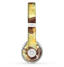 The Yellow and Brown Pastel Flowers Skin for the Beats by Dre Solo 2 Headphones