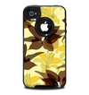 The Yellow and Brown Pastel Flowers Skin for the iPhone 4-4s OtterBox Commuter Case