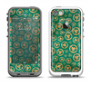 The Yellow and Green Recycle Pattern Apple iPhone 5-5s LifeProof Fre Case Skin Set