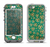 The Yellow and Green Recycle Pattern Apple iPhone 5-5s LifeProof Nuud Case Skin Set