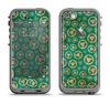 The Yellow and Green Recycle Pattern Apple iPhone 5c LifeProof Fre Case Skin Set