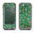 The Yellow and Green Recycle Pattern Apple iPhone 5c LifeProof Nuud Case Skin Set