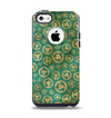 The Yellow and Green Recycle Pattern Apple iPhone 5c Otterbox Commuter Case Skin Set
