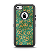 The Yellow and Green Recycle Pattern Apple iPhone 5c Otterbox Defender Case Skin Set