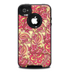 The Yellow and Pink Paisley Floral Skin for the iPhone 4-4s OtterBox Commuter Case
