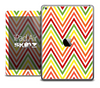 The Yellow and Red Chevron Sharp Skin for the iPad Air