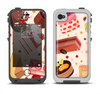 The Yummy Dessert Pattern Apple iPhone 4-4s LifeProof Fre Case Skin Set