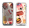 The Yummy Dessert Pattern Apple iPhone 5-5s LifeProof Fre Case Skin Set