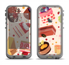 The Yummy Dessert Pattern Apple iPhone 5c LifeProof Fre Case Skin Set