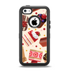 The Yummy Dessert Pattern Apple iPhone 5c Otterbox Defender Case Skin Set