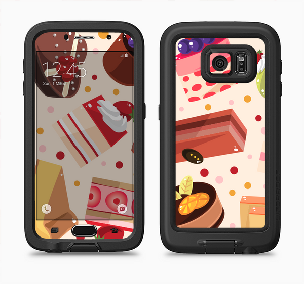 The Yummy Dessert Pattern Full Body Samsung Galaxy S6 LifeProof Fre Case Skin Kit