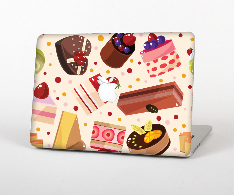 "The Yummy Dessert Pattern Skin Set for the Apple MacBook Pro 15"" with Retina Display"