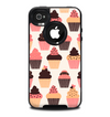 The Yummy Subtle Cupcake Pattern Skin for the iPhone 4-4s OtterBox Commuter Case
