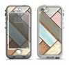 The Zigzag Vintage Wood Planks Apple iPhone 5-5s LifeProof Nuud Case Skin Set