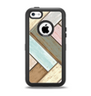 The Zigzag Vintage Wood Planks Apple iPhone 5c Otterbox Defender Case Skin Set