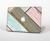 The Zigzag Vintage Wood Planks Skin Set for the Apple MacBook Pro 15""
