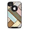 The Zigzag Vintage Wood Planks Skin for the iPhone 4-4s OtterBox Commuter Case