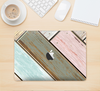 "The Zigzag Vintage Wood Planks Skin Kit for the 12"" Apple MacBook"