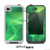 The Vector Shiny Green Crystal Pattern Skin for the iPhone 4-4s LifeProof Case