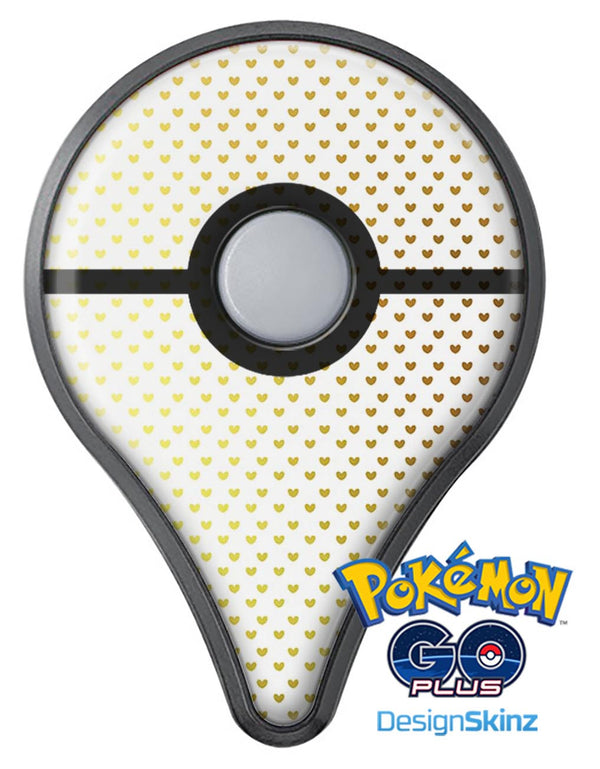 Tiny Golden Hearts Pattern Pokémon GO Plus Vinyl Protective Decal Skin Kit