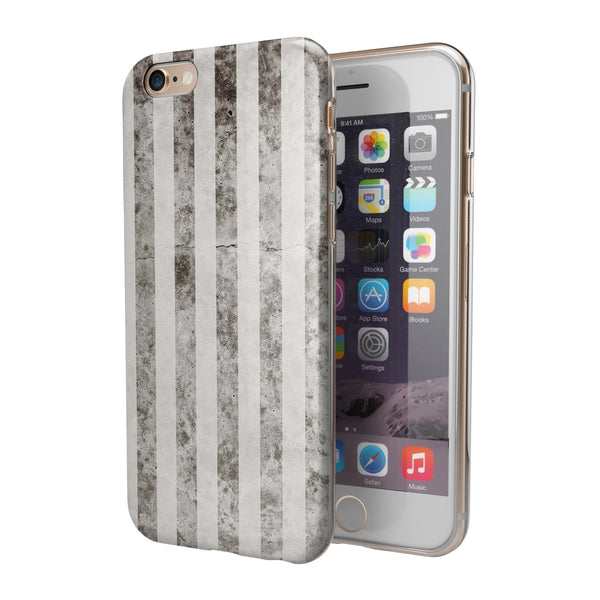 Transparent Clouds over Black and White Verticle Pattern iPhone 6/6s or 6/6s Plus 2-Piece Hybrid INK-Fuzed Case