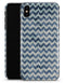 Transparent Clouds over Navy and Blue Chevron - iPhone X Clipit Case
