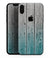 Trendy Teal to White Aged Wood Planks - iPhone XS MAX, XS/X, 8/8+, 7/7+, 5/5S/SE Skin-Kit (All iPhones Available)