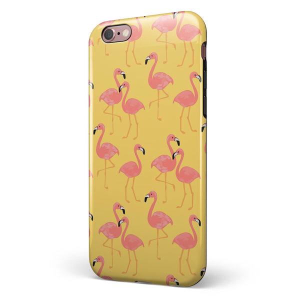 Tropical Flamingo v1 iPhone 6/6s or 6/6s Plus 2-Piece Hybrid INK-Fuzed Case