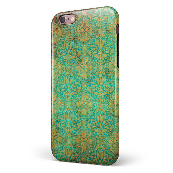 Tropical Grunge Floral Pattern iPhone 6/6s or 6/6s Plus 2-Piece Hybrid INK-Fuzed Case