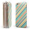Tropical Summer Gold Striped v1 iPhone 6/6s or 6/6s Plus 2-Piece Hybrid INK-Fuzed Case