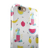 Tropical Summer Love v1 iPhone 6/6s or 6/6s Plus 2-Piece Hybrid INK-Fuzed Case