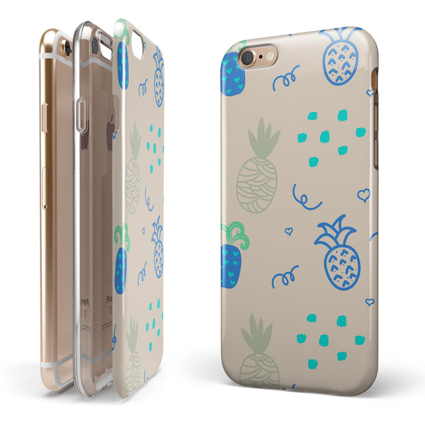 Tropical Summer Love v4 iPhone 6/6s or 6/6s Plus 2-Piece Hybrid INK-Fuzed Case