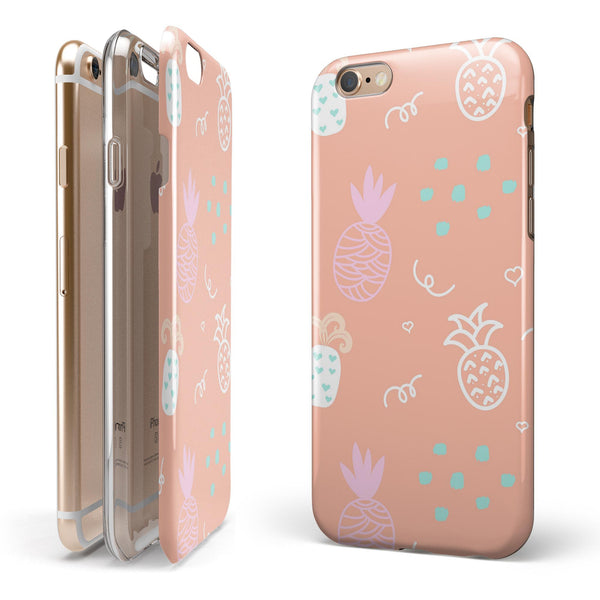 Tropical Summer Love v6 iPhone 6/6s or 6/6s Plus 2-Piece Hybrid INK-Fuzed Case