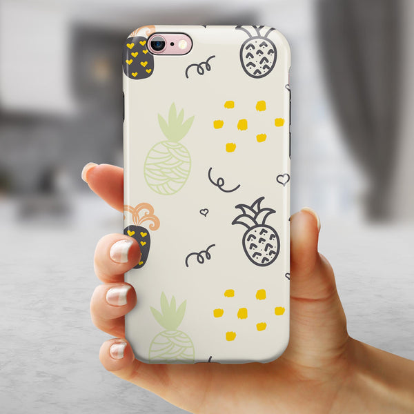 Tropical Summer Love v7 iPhone 6/6s or 6/6s Plus 2-Piece Hybrid INK-Fuzed Case