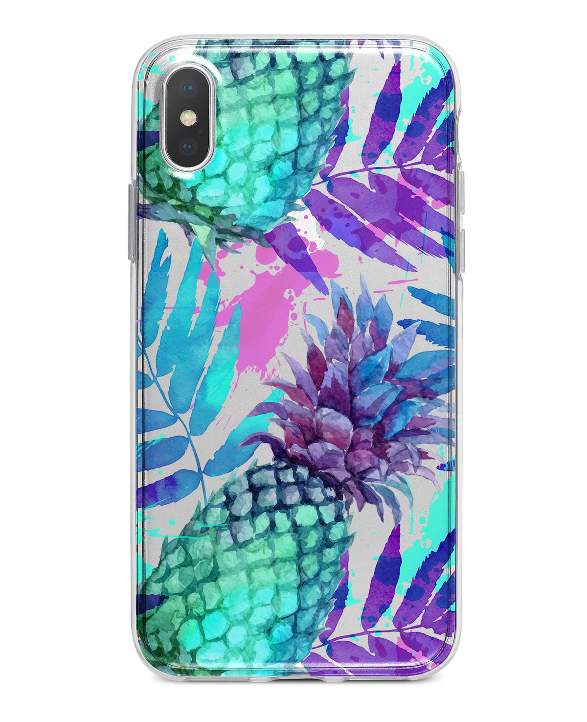 online retailer 8359f 4425f Tropical Summer Pineapple v1 - Crystal Clear Hard Case for the iPhone XS  MAX, XS & More (ALL AVAILABLE)