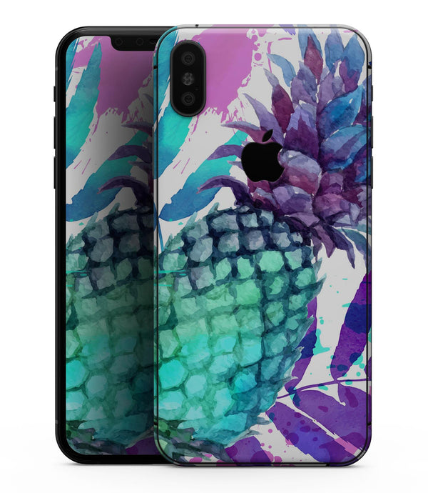 Tropical Summer Pineapple v1 - iPhone XS MAX, XS/X, 8/8+, 7/7+, 5/5S/SE Skin-Kit (All iPhones Available)