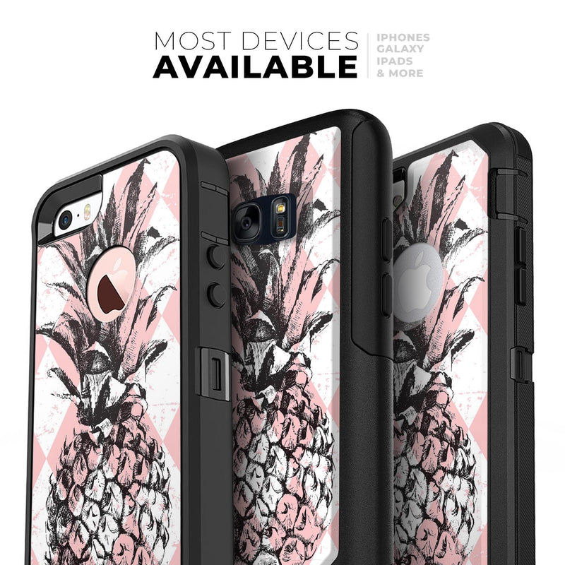 Tropical Summer Pink Pineapple v1 - Skin Kit for the iPhone OtterBox Cases