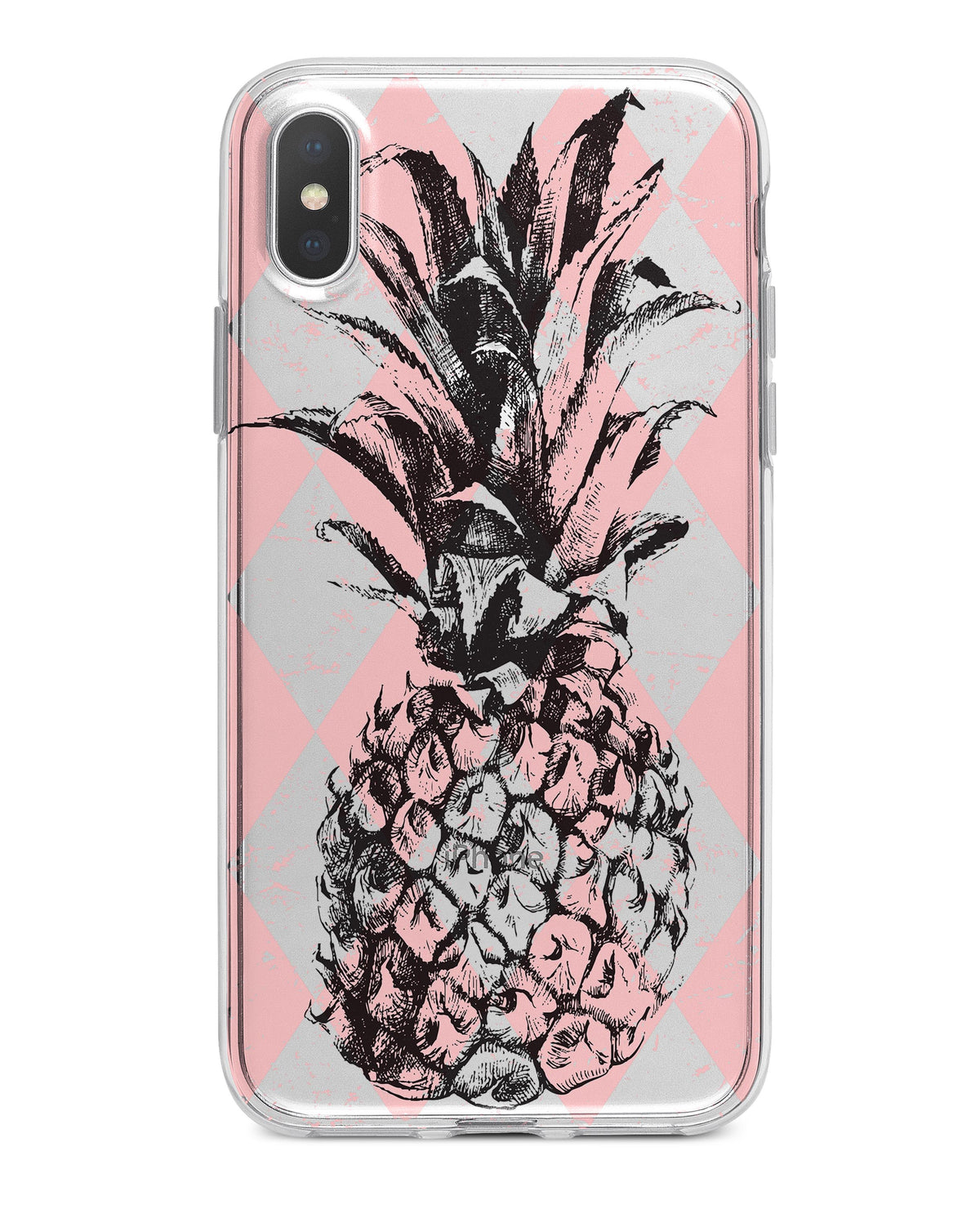 quality design 128dc a4f67 Tropical Summer Pink Pineapple v1 - Crystal Clear Hard Case for the iPhone  XS MAX, XS & More (ALL AVAILABLE)