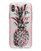 Tropical Summer Pink Pineapple v1 - Crystal Clear Hard Case for the iPhone XS MAX, XS & More (ALL AVAILABLE)