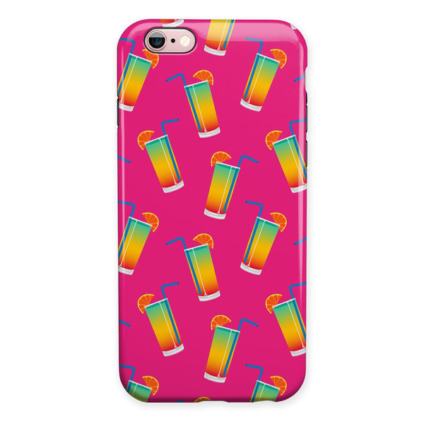 Tropical Twist Drinks v16 iPhone 6/6s or 6/6s Plus 2-Piece Hybrid INK-Fuzed Case